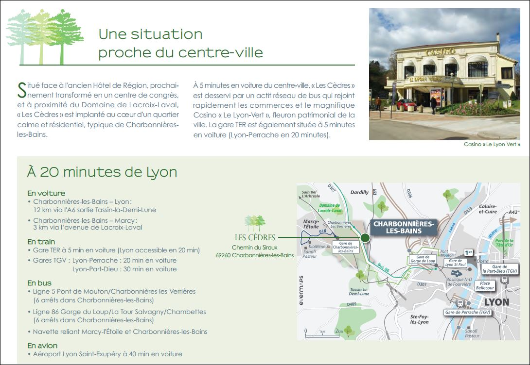 Les Cèdres Charbonnières-les-Bains aux portes de Lyon