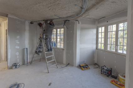 chantier travaux dans bâtiment, déficit foncier